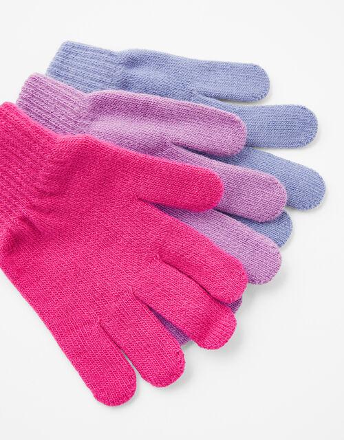Plain Knit Gloves Multipack, Multi (BRIGHTS-MULTI), large