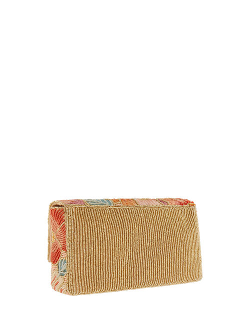 Kimmy Floral Beaded Clutch Bag, , large