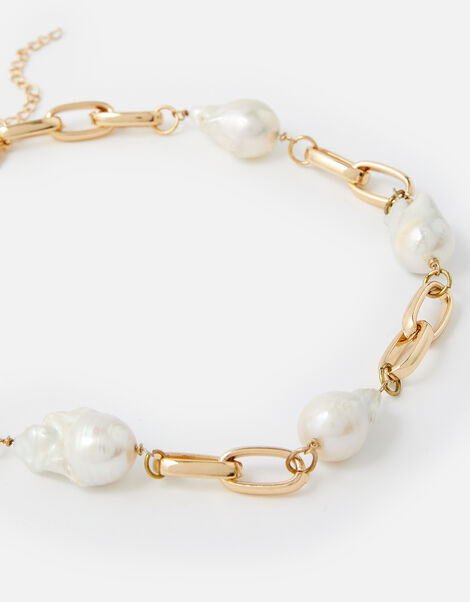 Baroque Pearl Collar Necklace , , large
