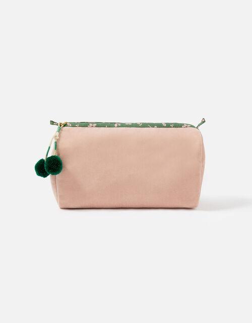 Pom Pom Zip Makeup Bag, , large