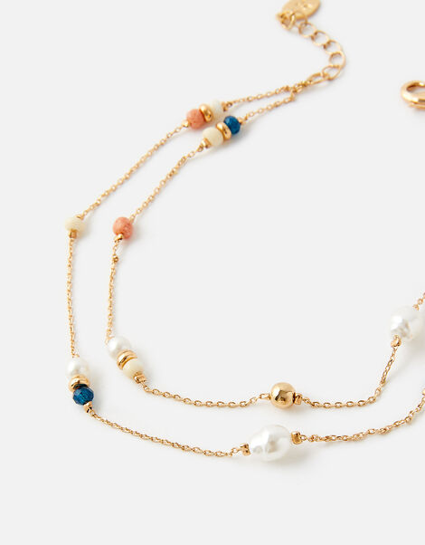 Layered Bead Anklet, , large