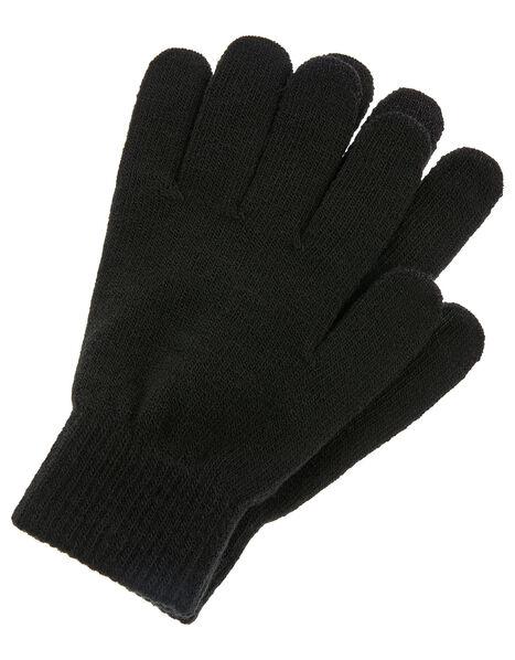 Super-Stretchy Touchscreen Gloves Black, Black (BLACK), large
