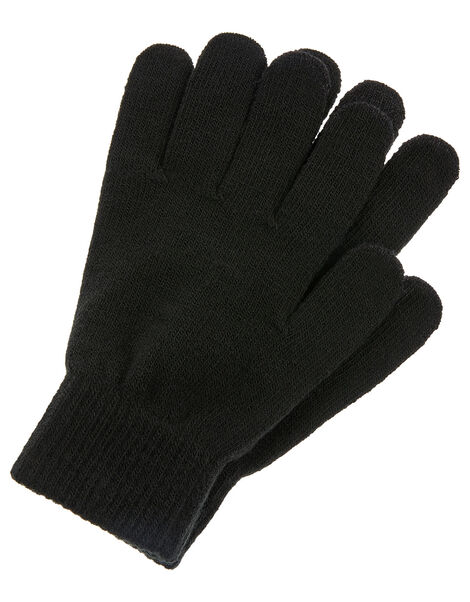 Super-Stretchy Touchscreen Gloves Black, Black (BLACK), large