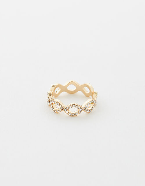 Sparkle Pave Ring, White (CRYSTAL), large
