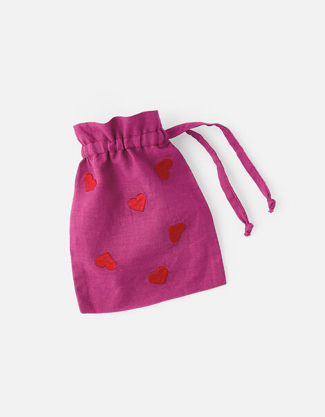 Embroidered Heart Face Covering with Bag, , large