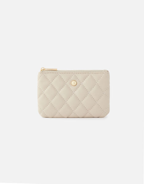 Quilted Coin Purse  Grey, Grey (GREY), large