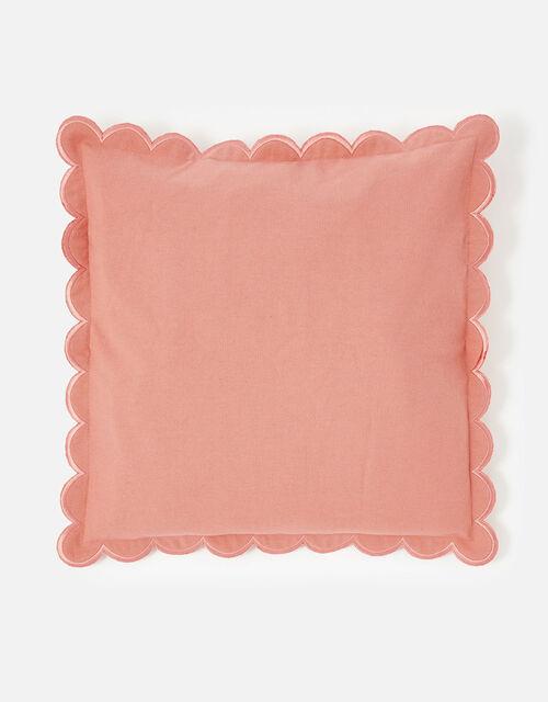 Scallop Edge Cushion Cover, Orange (ORANGE), large