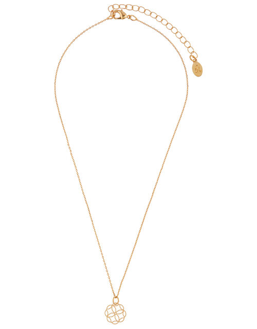 Filigree Pendant Necklace, , large
