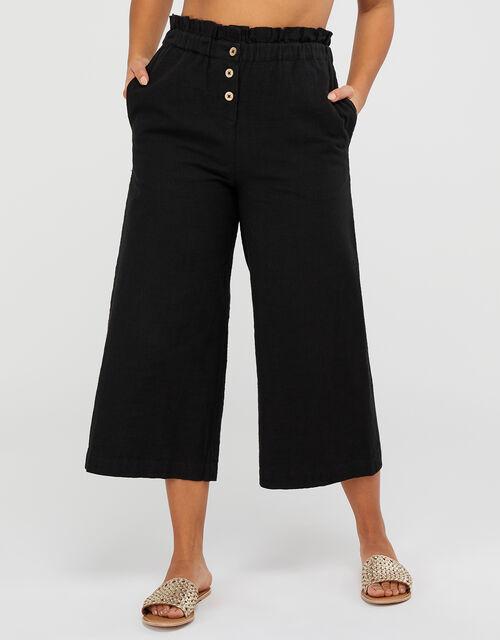 Cotton Beach Trousers, Black (BLACK), large