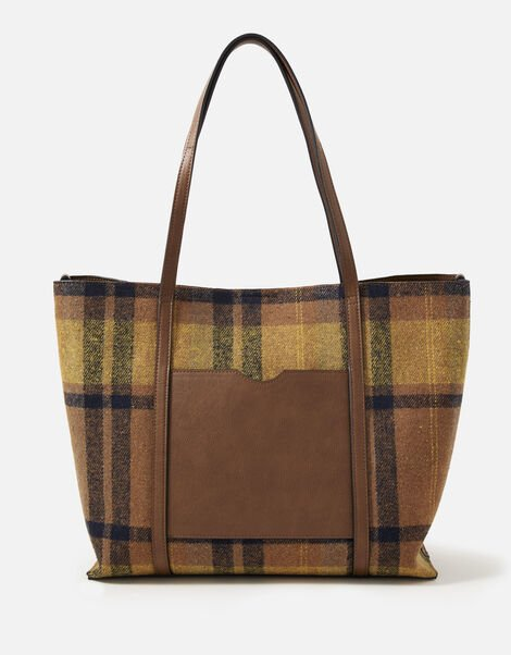 Carrie Check Tote Bag, , large