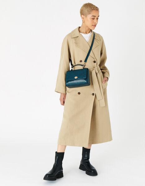 Jessica Croc Handheld Bag Teal, Teal (TEAL), large