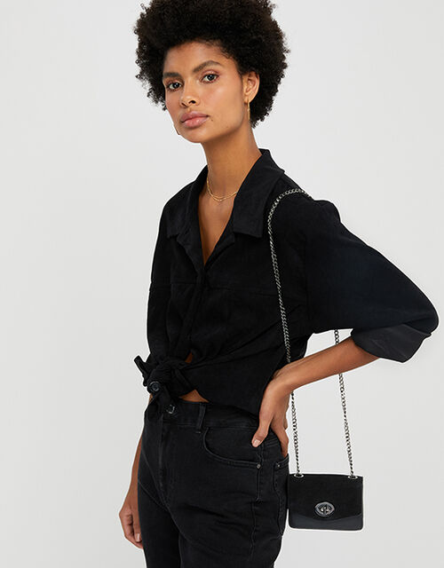 Clara Cross-Body Bag, Black (BLACK), large