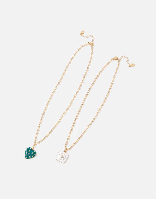 Reconnected Enamel Multirow Necklace, , large