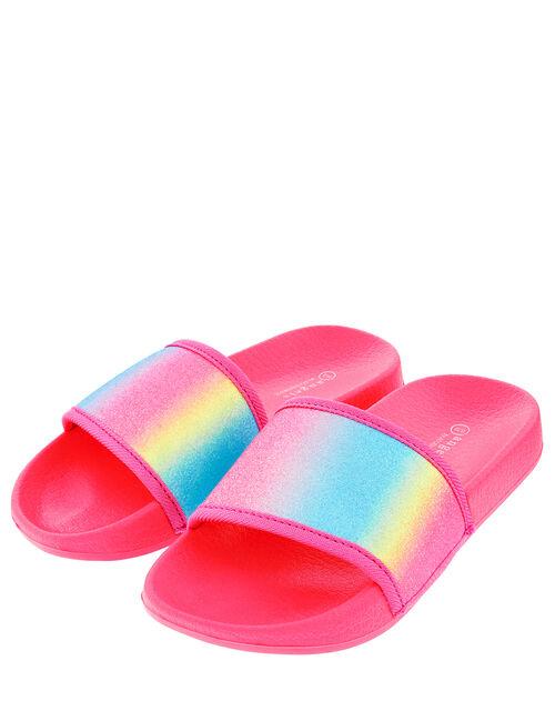Glitter Rainbow Sliders, Pink (PINK), large