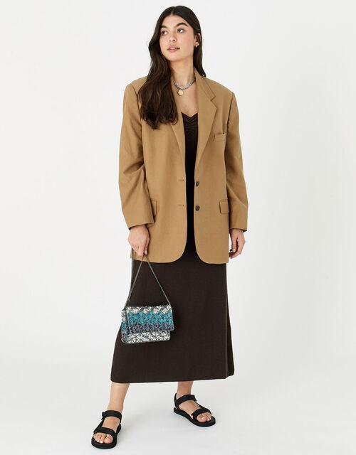 Sequin Diamond Clutch Bag, , large