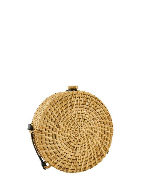 Circle Wicker Cross-Body Bag, , large