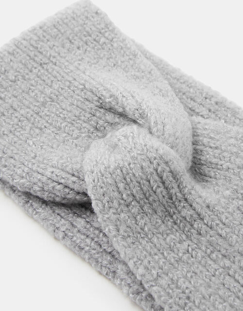 Knit Bando Headband, Grey (LIGHT GREY), large