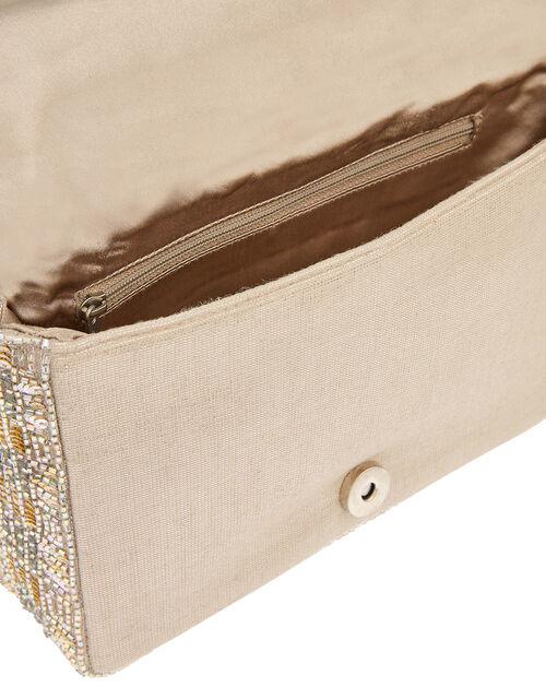 Crystal Embellished Clutch Bag, , large