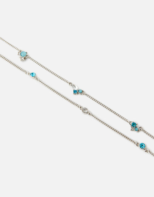 Diamante Cluster Layered Anklet , , large