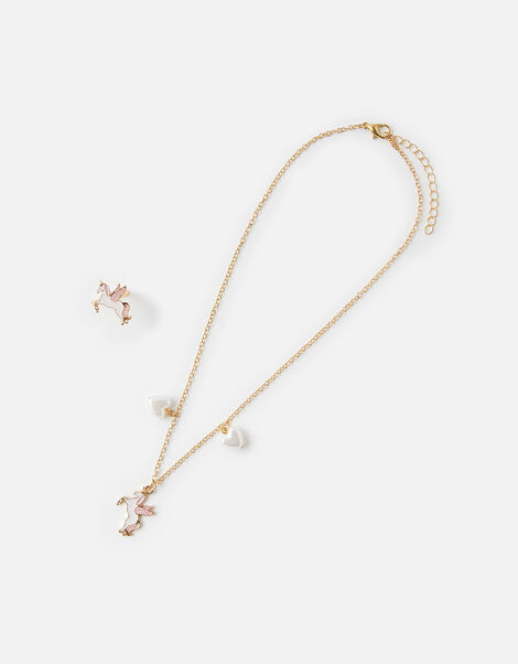 Unicorn Necklace and Ring Set, , large