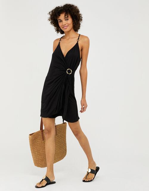 Ring Detail Jersey Dress, Black (BLACK), large