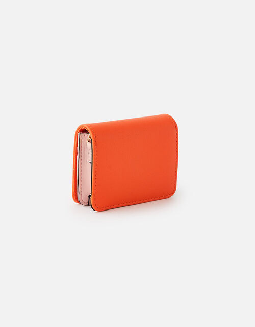 Cali Colourblock Chain Cardholder, Orange (ORANGE), large