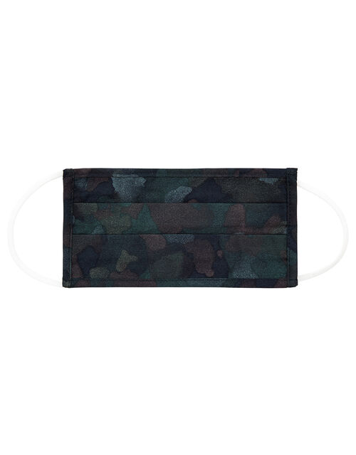 Camo Face Covering in Pure Cotton, , large