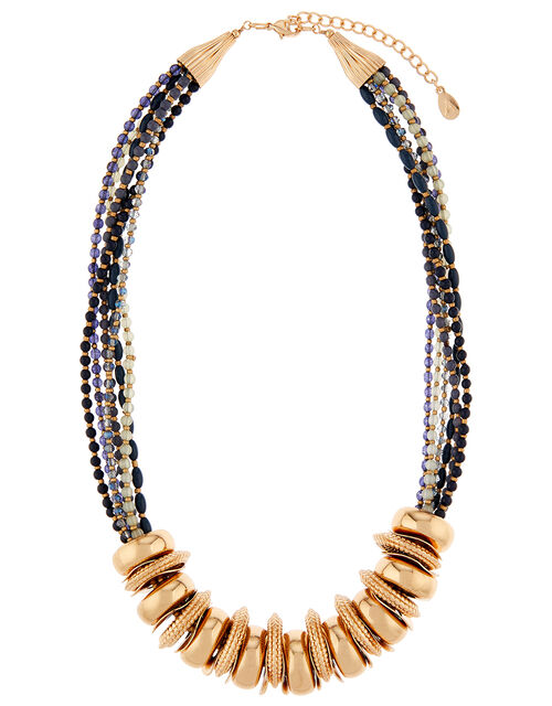 Laura Beaded Ring Collar Necklace, , large