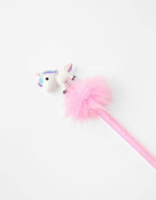Fluffy Unicorn Pom-Pom Pen, , large