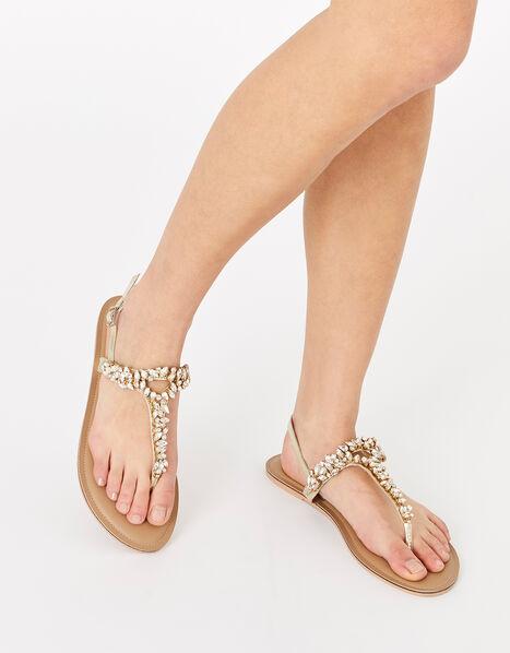 Bermuda Crystal Sandals White, White (CRYSTAL), large