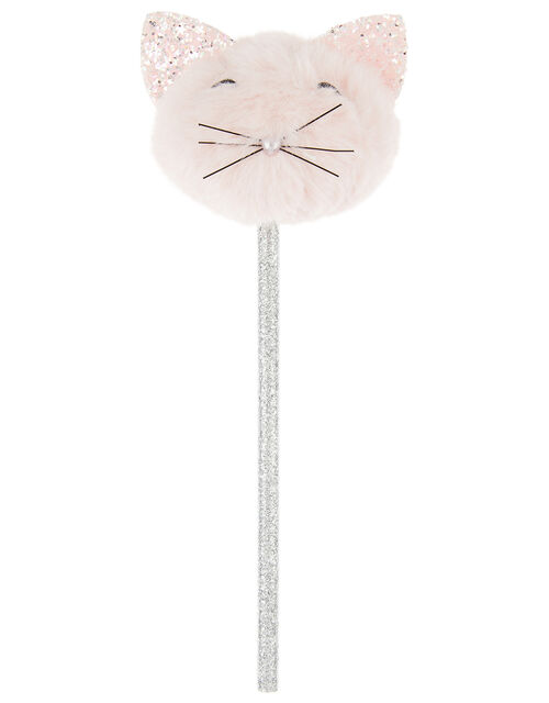 Fluffy Pom-Pom Cat Pencil, , large
