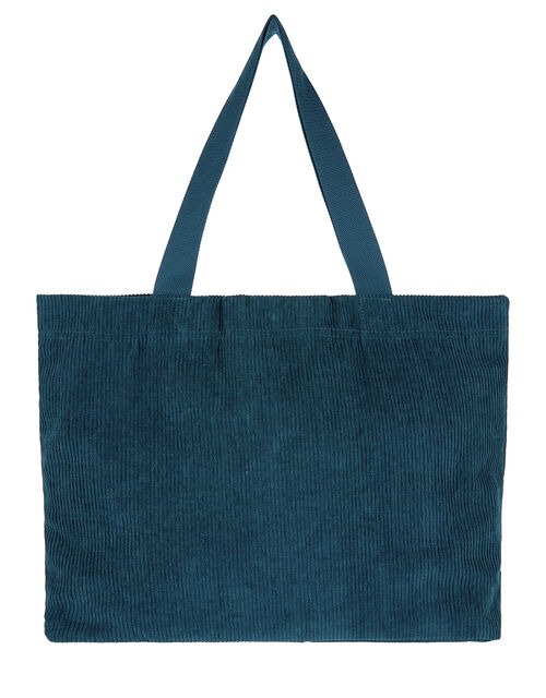 Cord Shopper Bag, Teal (TEAL), large