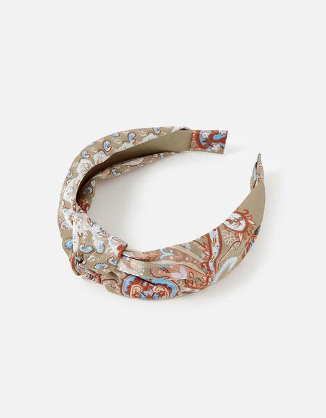 Scarf Print Knot Headband, , large