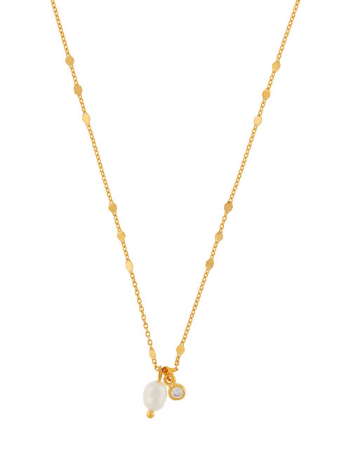 Organic Pearl and Sparkle Necklace, , large