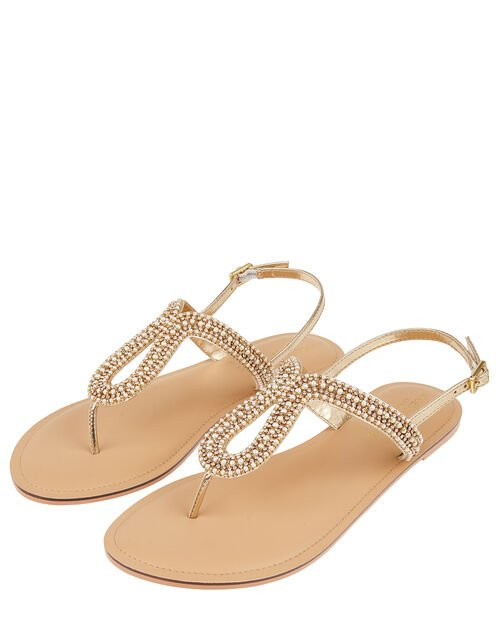 Seychelles Pearly Beaded Sandals, Cream (PEARL), large
