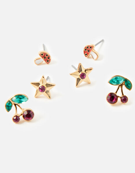 Five-a-Day Stud Earring Set, , large