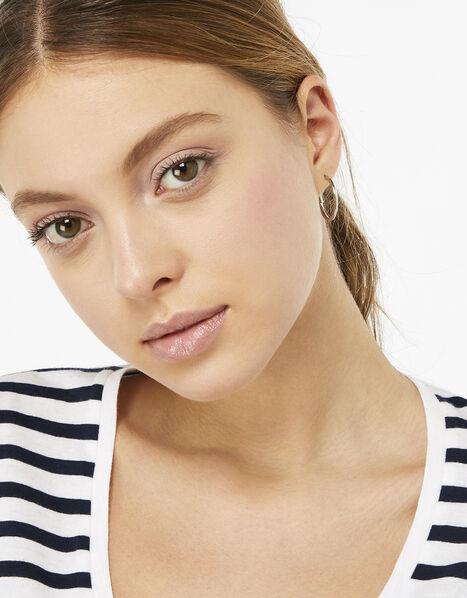 Small Simple Hoop Earrings Silver, Silver (SILVER), large
