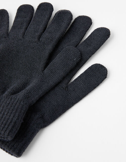 Copper Antibacterial Touchscreen Gloves, Grey (CHARCOAL), large