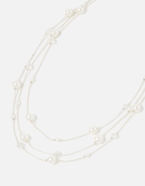 Berry Blush Layered Pearl Necklace, , large