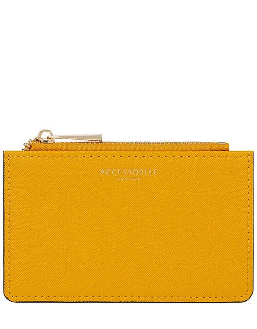 Shoreditch Textured Cardholder, Yellow (OCHRE), large