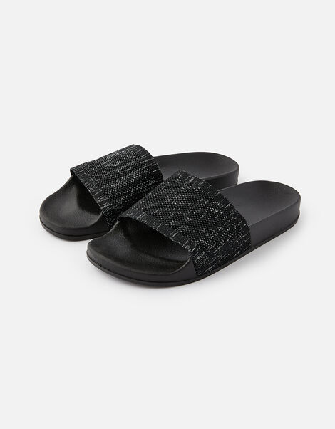 Speckled Sliders Black, Black (BLACK), large