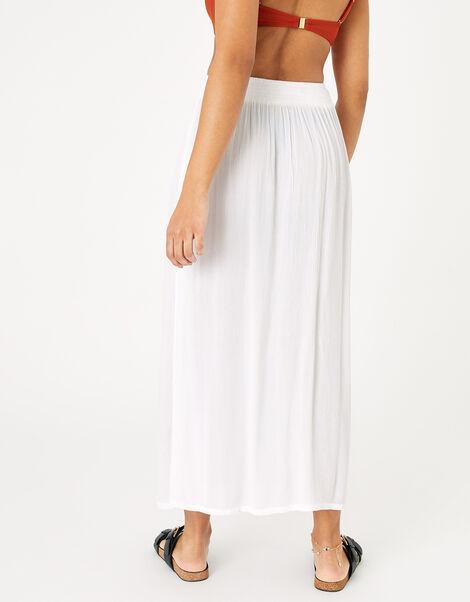 Button Down Skirt in LENZING™ ECOVERO™ White, White (WHITE), large