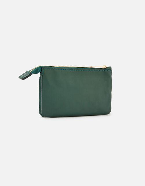Wristlet Leather Wallet, Green (GREEN), large