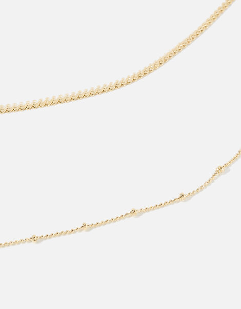 Layered Chain Necklace, , large
