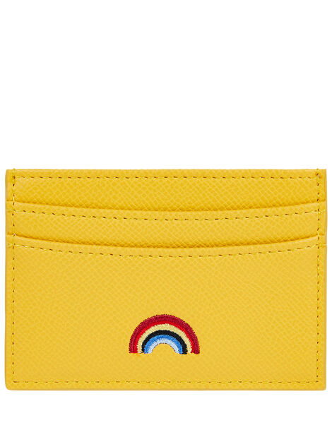 Embroidered Rainbow Cardholder Yellow, Yellow (YELLOW), large