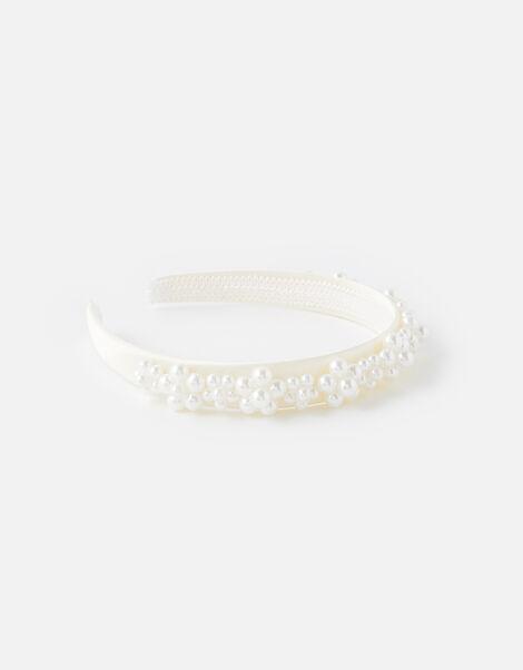 Pearl Flower Headband , , large