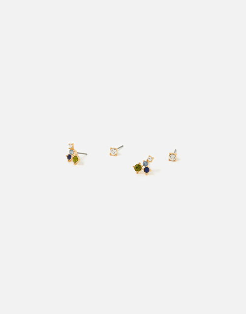 Country Retreat Mixed Gem Stud Earring Set, , large