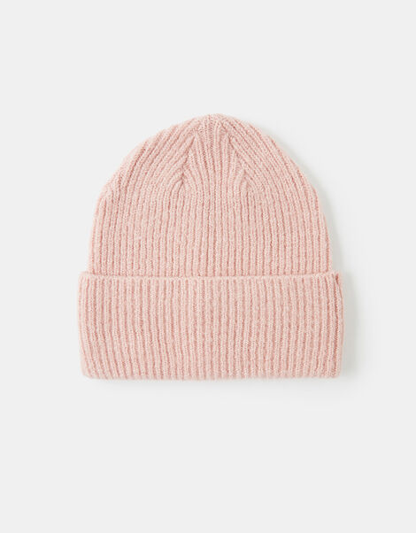 Soho Knit Beanie Hat Pink, Pink (PALE PINK), large