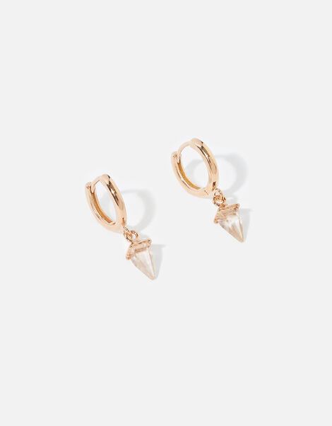 Rose Gold-Plated Healing Stone Earrings, , large
