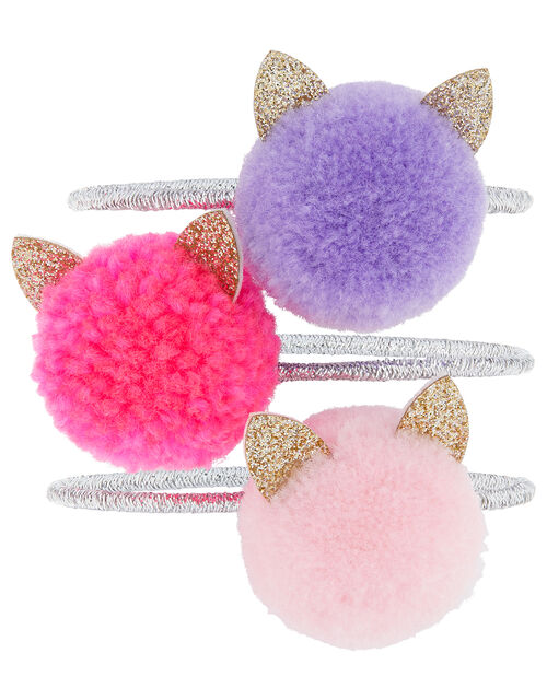 Cat Pom-Pom Hair Band Set, , large